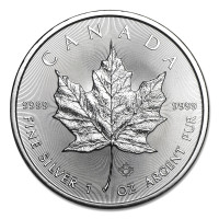 Stříbrná mince Canadian Maple Leaf 1 oz (2018)