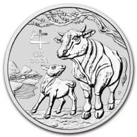 Stříbrná mince Year of the Ox - Rok Buvola 1 oz (2021)