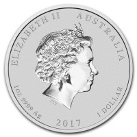 Stříbrná mince Year of the Rooster - Rok Kohouta 1 oz (2017)